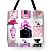 Perfume Set Black And Pink Tote Bag