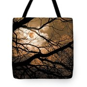 Perigee Moon In The Trees Tote Bag
