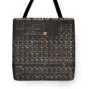 Periodic Table Grunge Style Tote Bag by Christopher Williams