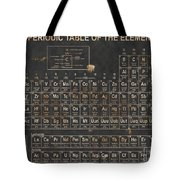 Periodic Table Grunge Style Tote Bag