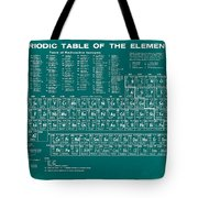 Periodic Table Of Elements In Green Tote Bag