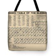 Periodic Table Of Elements In Sepia Tote Bag