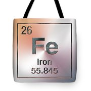 Periodic Table Of Elements - Iron Fe Tote Bag