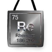 Periodic Table Of Elements - Rhenium Tote Bag