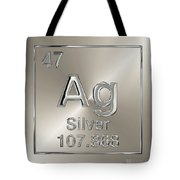 Periodic Table Of Elements - Silver - Ag Tote Bag