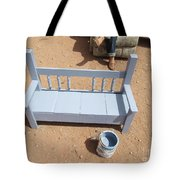 Periwinkle Bench Tote Bag