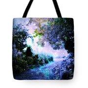 Fantasy Garden Path Periwinkle Tote Bag