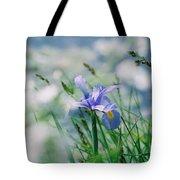 Periwinkle Iris Tote Bag