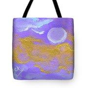 Periwinkle Moon Tote Bag