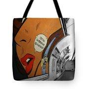 Perrier Ad Tote Bag