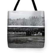 Perrine's Bridge After The Nor'easter Tote Bag