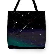 Perseid Meteor Shower  Tote Bag by Jean Pacheco Ravinski