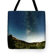 Perseids Meteor Shower  Tote Bag