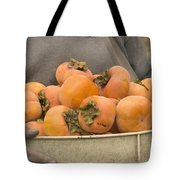 Persimmons In A Bucket Tote Bag