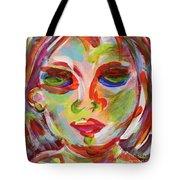 Persistence - Contemporary Art Face Tote Bag