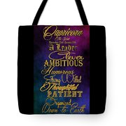 Personality Traits Of A Capricorn Tote Bag by Mamie Thornbrue