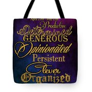 Personality Traits Of A Taurus Tote Bag by Mamie Thornbrue