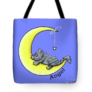 Personalized Ll Gray Tabby Tote Bag
