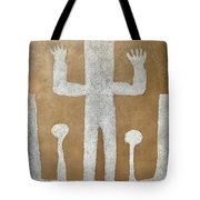 Personnage With Two Trees Tote Bag