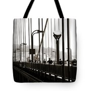 Perspective On The Golden Gate Bridge Tote Bag