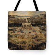Perspective View Of The Chateau Gardens And Park Of Versailles Tote Bag by Pierre Patel