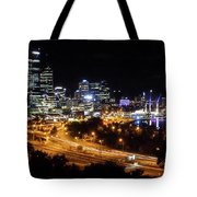 Perth By Night Tote Bag