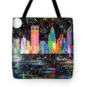 Perth Skyline Alla Pollock  Tote Bag