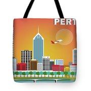 Perth Western Australia Australia Horizontal Skyline Tote Bag