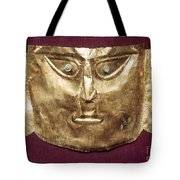 Peru: Chimu Gold Mask Tote Bag