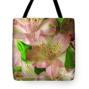 Peruvian Lilies In Bloom Tote Bag by Richard J Thompson