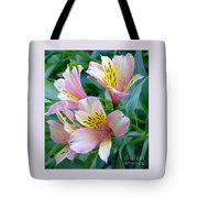 Peruvian Lily Of The Incas Tote Bag