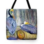 Peruvian Pelicans Three Pastel Tote Bag