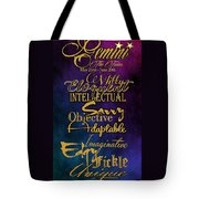 Pesonality Traits Of A Gemini Tote Bag