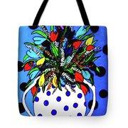 Petals And Dots Tote Bag