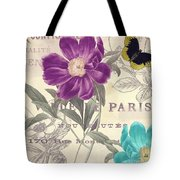 Petals Of Paris II Tote Bag