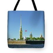 Peter And Paul Fortress. Saint Petersburg, Russia Tote Bag
