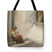 Peter Ilsted Danish, 1861-1933, On The Porch, Liselund Tote Bag