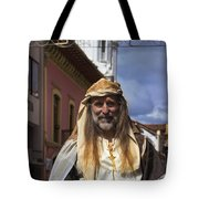 Peter On Horseback In The Pase Del Nino Tote Bag