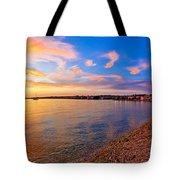 Petrcane Beach Golden Sunset View Tote Bag