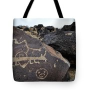 Petroglyph Monument Animal Tote Bag by Kyle Hanson