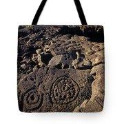 Petroglyphs In Kalahuipuas Historic Tote Bag