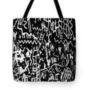 Petroglyphs Vertical Black And White Tote Bag