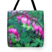 Pretty Little Bleeding Hearts Tote Bag
