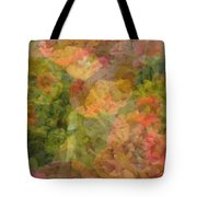 Petunias And Lantana Collage Tote Bag