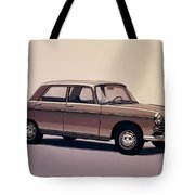 Peugeot 404 1960 Painting Tote Bag