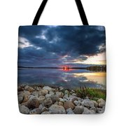 Pewaukee Lake Trail Tote Bag