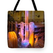 Pews Under Stained Glass Tote Bag