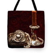 Pewter And Pearls Tote Bag