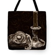Pewter And Pearls - Sepia Tote Bag