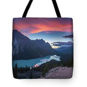 Peyto Lake At Dusk Tote Bag